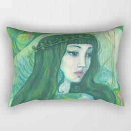 Green Mermaid Rectangular Pillow