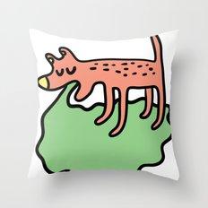 Vomiting dog Throw Pillow