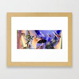 """ The Flying Circus."" Framed Art Print"