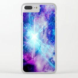 galaxy Nebula Star Clear iPhone Case