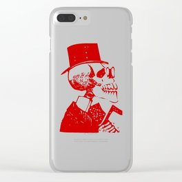 Skeleton in a Top Hat Clear iPhone Case