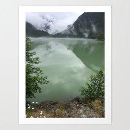 Mysterious Lake Diablo Art Print