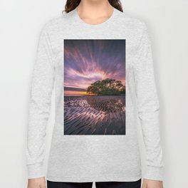 Nudgee Beach Sunrise Queensland Australia Long Sleeve T-shirt
