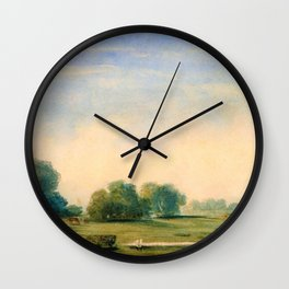 Prilidiano Pueyrredon - Coastal Landscape - Digital Remastered Edition Wall Clock