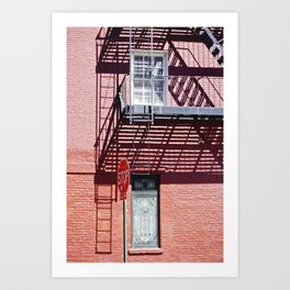 Stop in the shadows NYC Art Print