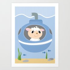 Mobil series submarine sheep Art Print