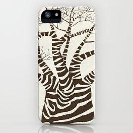 Zebra Tree iPhone Case