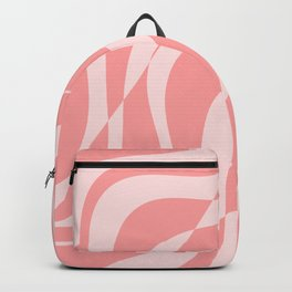 Red Fracture Pattern Backpack