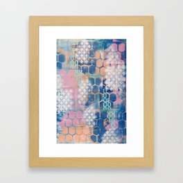 honeycomb and lace Framed Art Print