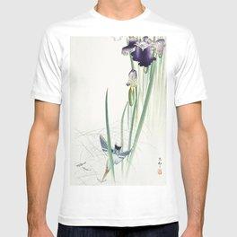 Kingfisher and irises (1900 - 1930) by Ohara Koson (1877-1945) T-shirt