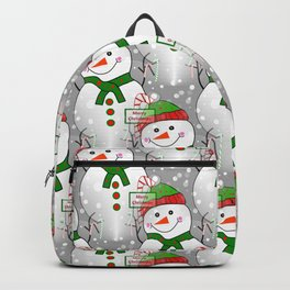 Merry Christmas Snowman Backpack