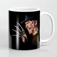 freddy krueger Mugs featuring Freddy by iankingart