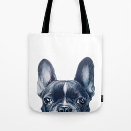 French Bull dog Dog illustration original painting print Tote Bag