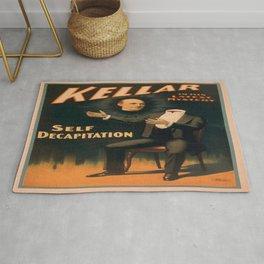 Vintage poster - Kellar the Magician, Self-Decapitation Rug