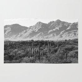 Wild West III - Tucson - Black & White version Rug