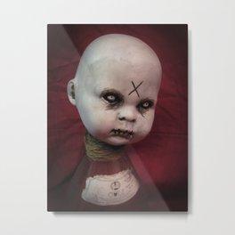 Creepy Gothic Zombie Baby Doll  Metal Print