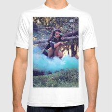 From the majesty she rises MEDIUM White Mens Fitted Tee