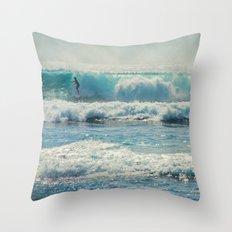 SURF-ACING Throw Pillow