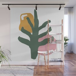 PLANT ABSTRACT PAINTING Wall Mural