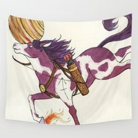 sagittarius Wall Tapestries featuring Sagittarius by Cecilia M Creations
