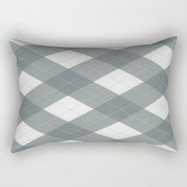 PPG Night Watch Pewter Green Argyle, Plaid Diamond Pattern Rectangular Pillow