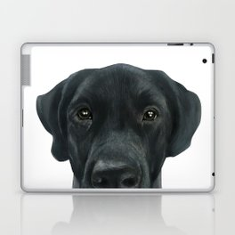 Labrador New, Acrylic painting by miart Laptop & iPad Skin