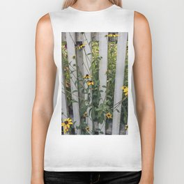 Fenced In Black Eyed Susans Biker Tank