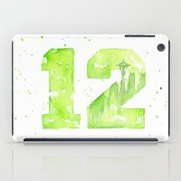 seahawks iPad Cases featuring 12th Man Seattle Art by Olechka