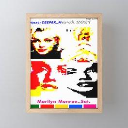 Marilyn TELETEXT CEEFAX/ ORACLE ARTWORK. TELEVISION. Framed Mini Art Print