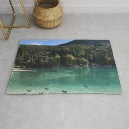 Slovenia Lake Jasna Beautifully Picturesque Rug