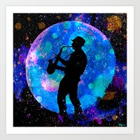 jazz Art Prints featuring Jazz by Saundra Myles
