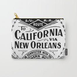 To California via New Orleans Carry-All Pouch