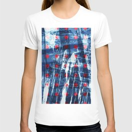 dots on blue ice T-shirt