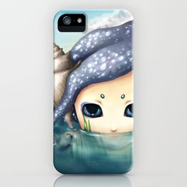 The monster in the sea is the water that reflects. iPhone Case
