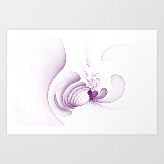 Purple Swirls Art Print