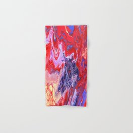 Red and Purple Cosmos Hand & Bath Towel