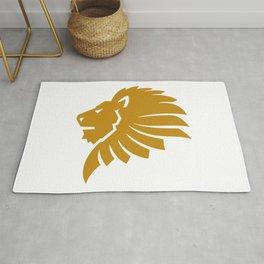 Lion Head Gold Rug