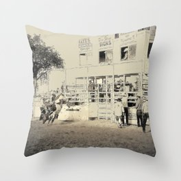 Ox Jobbing Throw Pillow