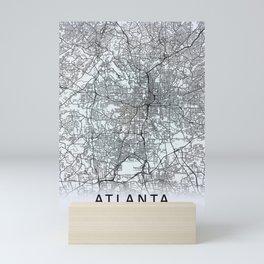 Atlanta, GA, USA White City Map Mini Art Print