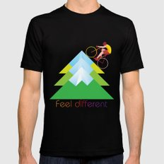 FEEL DIFFERENT MEDIUM Black Mens Fitted Tee
