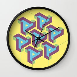 Geometric Play 08 Wall Clock