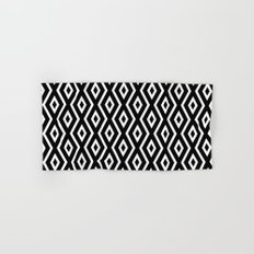 Black & White Pattern Hand & Bath Towel