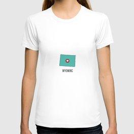 Wyoming State Heart T-shirt