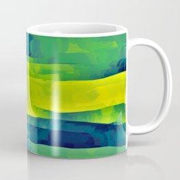 Acid Yellow and Indigo Abstract Coffee Mug