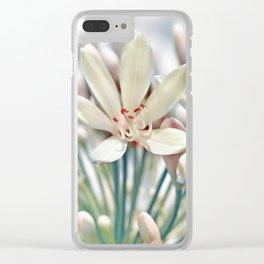 Sumer flower macro 036 Clear iPhone Case