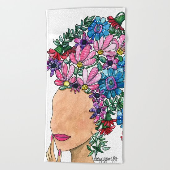Exotic Beauty Beach Towel