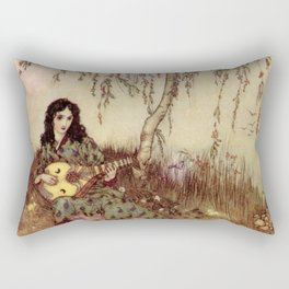 Beauty Had A Brave Heart By Edmund Dulac Rectangular Pillow