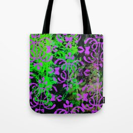 Lime Green and Purple Tote Bag