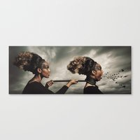 inner demons Canvas Prints featuring The Demons Within by Shaun Lowe
