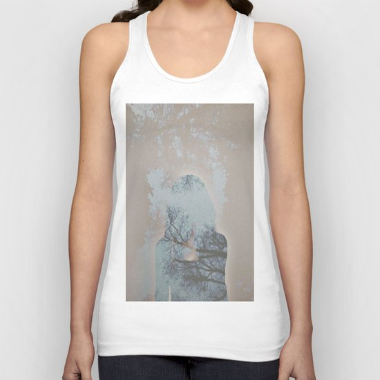 A Ghost in the Trees Unisex Tank Top